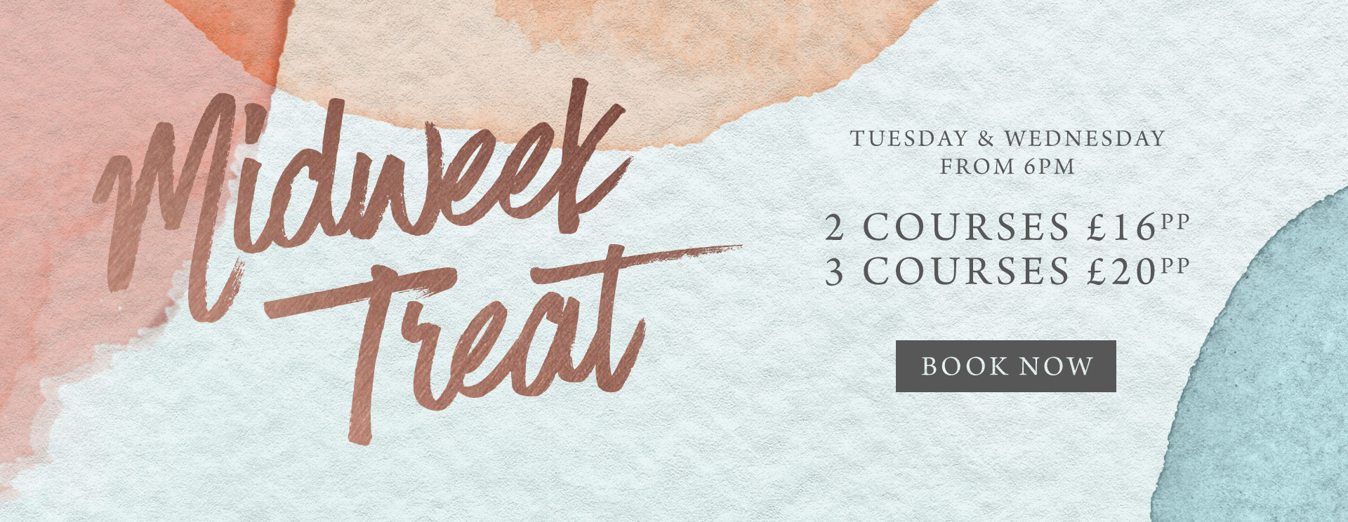 Midweek treat at The Plough & Harrow - Book now