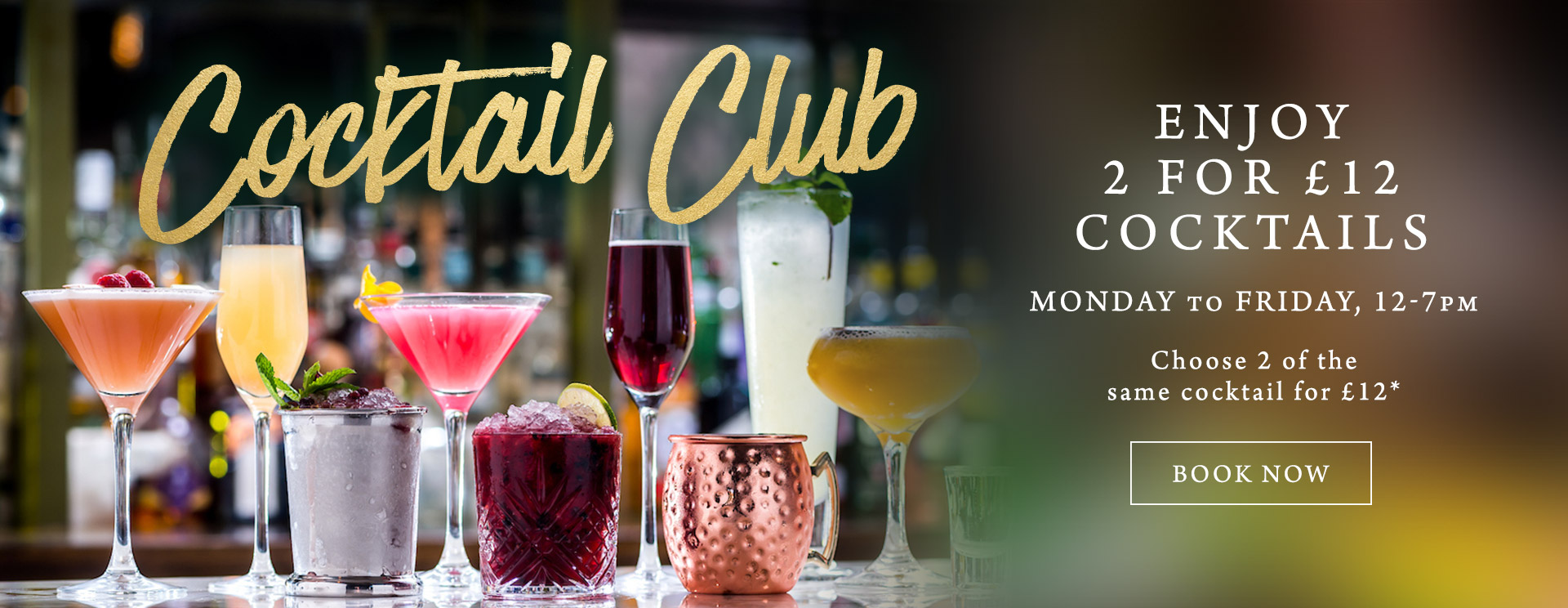 2 for £12 cocktails at The Plough & Harrow